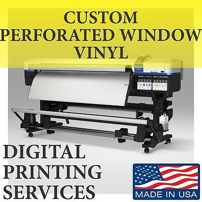 Custom printed perf Perforated Decal Window Film Auto Car Shade Large sign