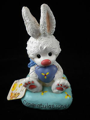 Little Suzy's Zoo Enesco Coin Bank ~ Lula Bunny Congratulations! Baby Bank