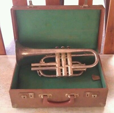 Antique Orpheus Trumpet 97622 In Original Stamford & Sons Case Bargain Ts !!