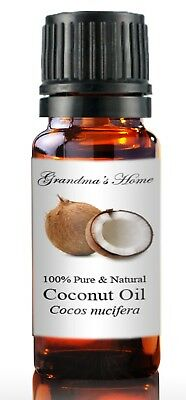 Coconut (Virgin) Oil - 5 mL - 100% Pure and Natural - Free Shipping - US Seller