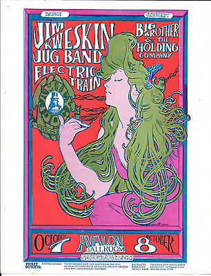 JANIS JOPLIN Jim Kweskin Fillmore Era Family Dog Handbill Flyer 1966 Mouse