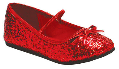 Child Shoes & Boots Flat Ballet Glitter Red (Multiple Choices)