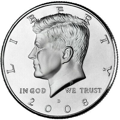 2008 KENNEDY HALF DOLLAR P or D MINT  1-COIN BRILLIANT UNCIRCULATED