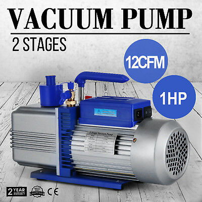 12CFM 2 Stages 1HP Refrigerant Vacuum Pump 254 L/M Air Condition Easy operation