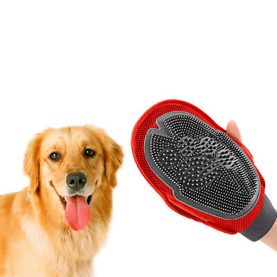 Pet Deshedding Cleaning Brush Magic Glove Dog Cat Hair Massage Grooming Groomer