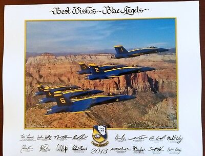 USN Blue Angels 14x11 Glossy Print 2013 The No Fly Year - Naval Aviation F/A-18