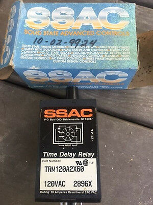 NEW SSAC TRM120A2X60 2896X Time Delay Relay