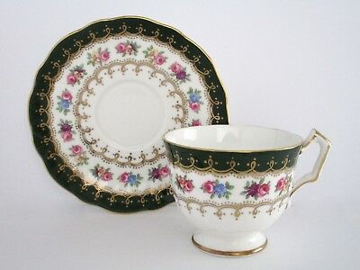 Aynsley England Bone China Footed Tea Cup and Saucer Set
