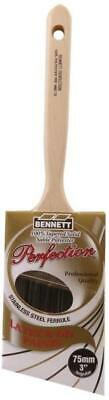 "Bennett PRF ANG 75 Angular Tapered Sash Paint Brush 3"" 100% Solid Polyester"
