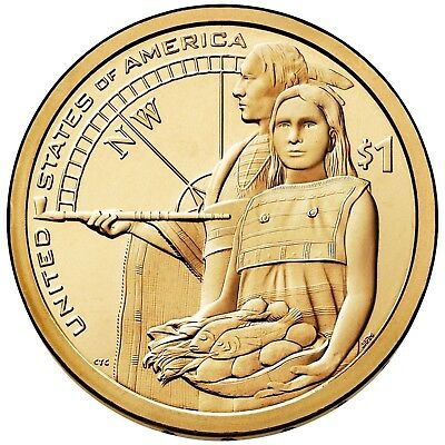 2014 NATIVE AMERICAN (SACAGAWEA) DOLLAR P or D 1-COIN BRILLIANT UNCIRCULATED