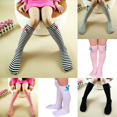Baby Kid Toddlers Girl Cotton Knee High Socks Tights Leg Warmer Hosiery Stocking