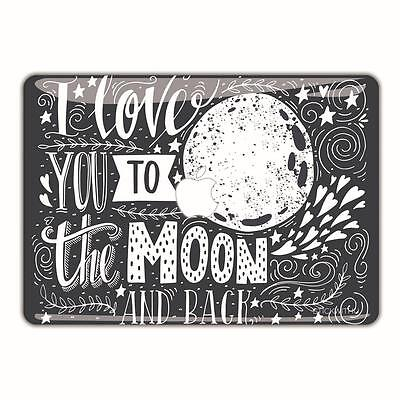 MacBook Pro Decal Air Skin Sticker Retina Vinyl Cover Quote Love You Moon FSM121