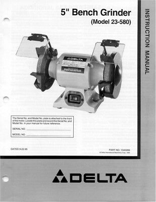 Delta Gr150 Grinder Owners Instruction Manual 1699 Picclick. Delta 23580 Grinder Owners Instruction Manual. Wiring. Gr150 Delta Bench Grinder Wiring Diagram At Scoala.co