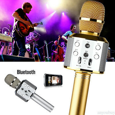 Compatible Handheld Cylindrical Microphone Wireless Speaker Player Device