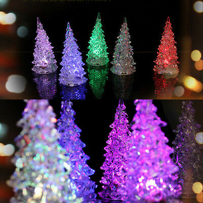 1/10X Christmas Tree Ice Crystal Colorful LED Home Decor/Table Lamp Night Light