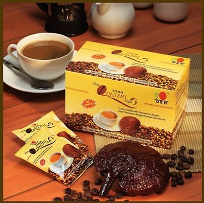4 x DXN GANODERMA MUSHROOM COFFEE BLENDED WITH COFFEE BEANS CERTIFIED ORGANIC
