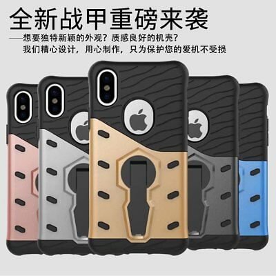 360 Degree Rotation Armor Hybrid Shield Rugged PC+TPU Back Case For iPHONE X/8/7