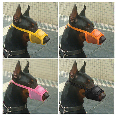 Cheap Breathable Pet Dog Muzzle Mouth Mask No Bark Bite Stop Chewing S M L XL