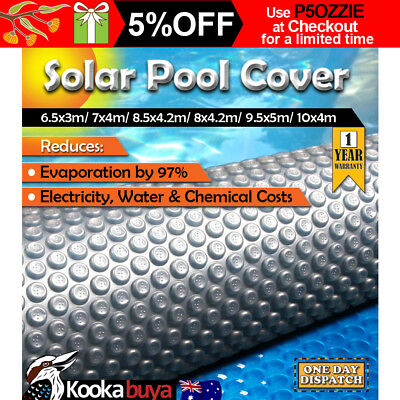 Solar Swimming Pool Cover 500 Micron Outdoor Bubble Blanket 6 Sizes