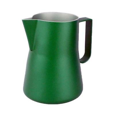 FROTHING PITCHER for Milk Frothers Latte Art Cappuccino Stencils - Green