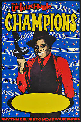"""""""The Untouchable Champions"""" [Singer James Brown] screenprint POSTER by John Foy"""