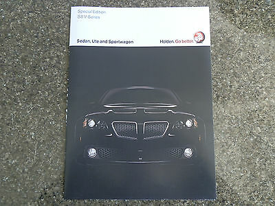 2009 Holden Ssv Sales Brochure