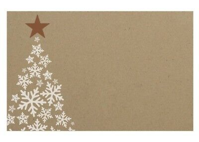 50 Merry Christmas Cards Tags Tree White Star Snow Gift Boxes Favours Kraft Name
