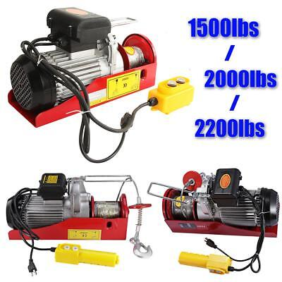 1500LB 2000LB 2200LB Electric Hoist Winch Lifting Engine Crane Hanging Lift Hook