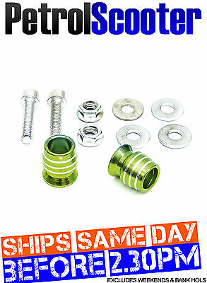 Alloy Handlebar Bar End Weight Caps Green Motorcycle Motorbike Bicycle 16mm