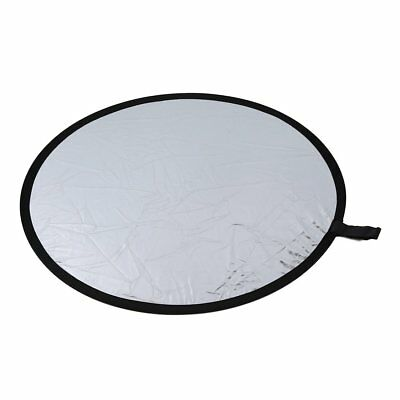 Round reflector For photography Diameter 80cm Foldable silver & white N8Z1