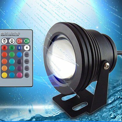 10w led rgb aquarium unterwasser strahler teichbeleuchtung lampe dc 12v ip68 eur 8 09. Black Bedroom Furniture Sets. Home Design Ideas