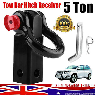 Recovery Hitch Receiver Rated 5 Tonne + Bow Shackle Tow Bar Off Road 4x4 4WD