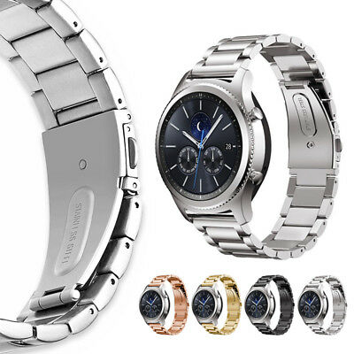 For Samsung Gear S3 Fitness Stainless Steel Strap Metal Link Wrist Band Bracelet