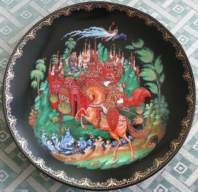 Ruslan and Ludmilla, Russian tales Plate Vinogradoff Porcelain great gift