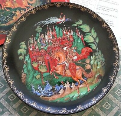 Ruslan and Ludmilla Russian tales Plate Vinogradoff Porcelain great gift