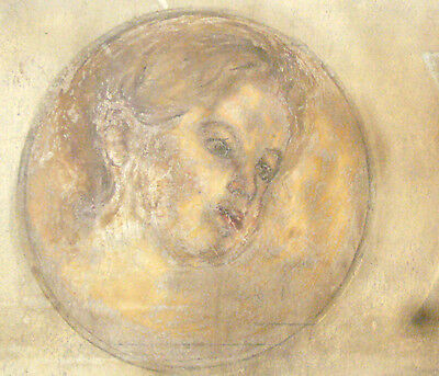 Painting Oil Wall Picture FRESCO TEMPERA PORTRAIT