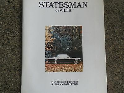 Holden 1973 Hq Statesman Sales Brochure Plus Bonus Colour Chart 100% Guarantee.