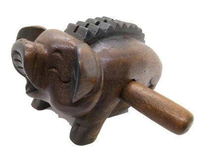 Pig Bab Wood Carved have Musical Instrument Sound Relaxing Fun Handmade Thailand