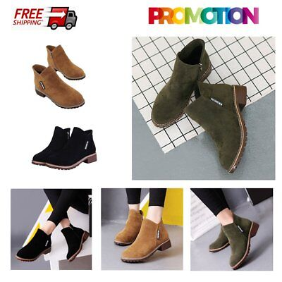 Women Ankle Boots Short Martin Boots Chunky Heels Boots Female Fashion Shoes GT