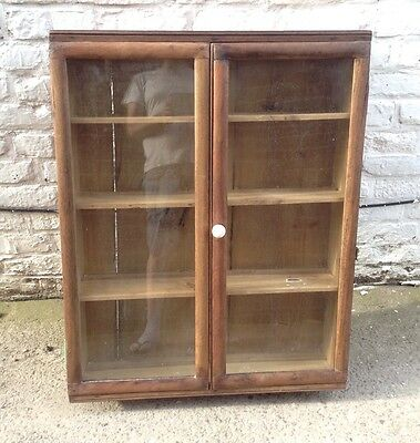 Antique Pine Display Cabinet Bookcase