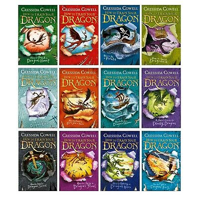 How to Train Your Dragon Collection Book Pack (12 Books) RRP: £83.88 BRAND NEW