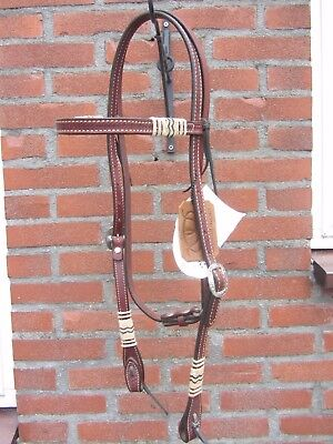 Weaver Leather Browband Trense mit Rawhide