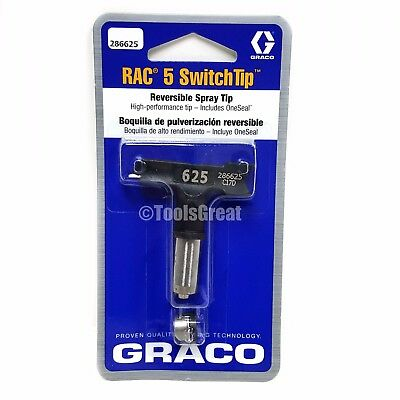 Graco Rac 5 286625 Airless Switch Tip Paint Spray Tip Size 625