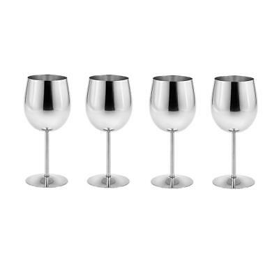 Practical Metal Wine Goblet Champagne Cup Red Wine Cocktail Mug Pack of 4
