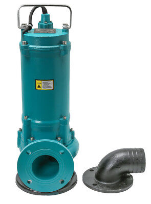 IBO ZWQ 3000 4HP 3kW Power Professional Sewage Sump PUMP & Grinder THREE PHASE