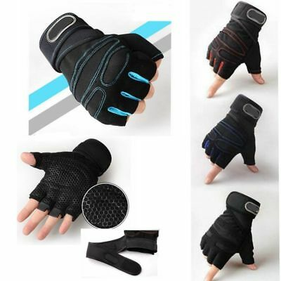 Weight lifting Gym Gloves Training Fitness Wrist Wrap Workout Exercise Sports RF