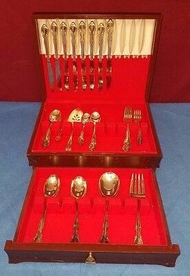 Vintage Lot of 53 Rogers Bros Reinforced Silver Plated Silverware