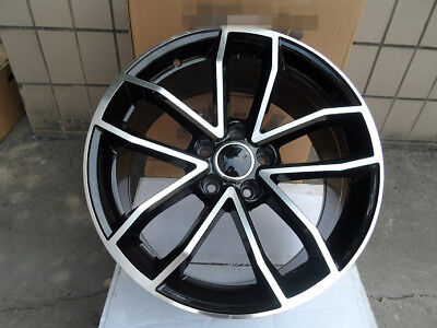 "One 18"" BLACK S5 STYLE RIM WHEEL SET OF ONE FOR 5X112 BOLT PATTERN AUDI VW"