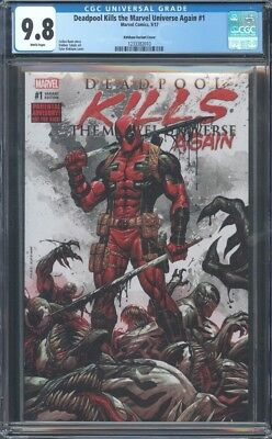 Deadpool Kills Marvel Universe Again #1 Cgc 9.8 Nm/mt Wp Krs Kirkham Variant
