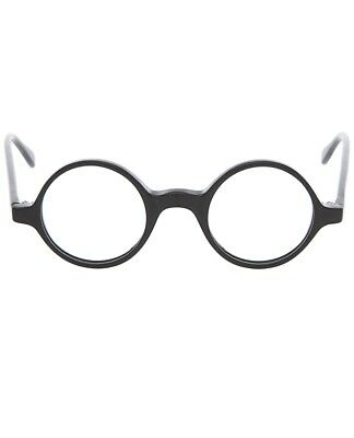 BLACK ROUND EYE FRAME GLASSES Harold Lloyd Circle Nerd Costume Funny Joke Gag